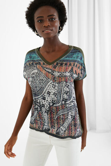 Loose oriental T-shirt   Desigual