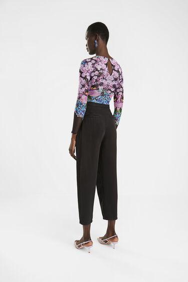 Slim floral bodysuit | Desigual