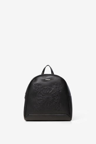 Embossed mandala backpack