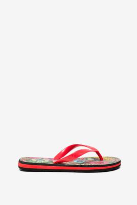 Black Flip-Flops Tropical
