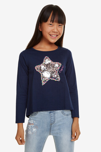 Sequinned Star T-shirt Ribbon