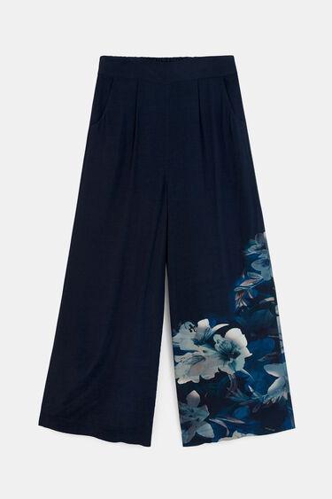 Floral culotte trousers | Desigual