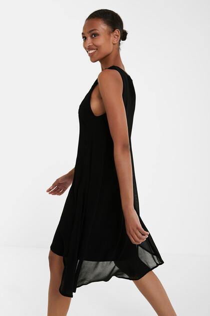Double layer fringe and mandalas dress