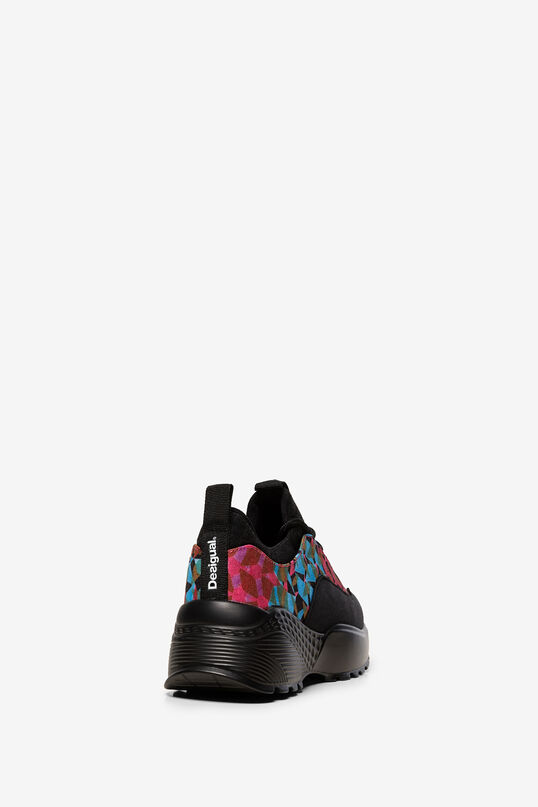 Chunky print patch trainers | Desigual