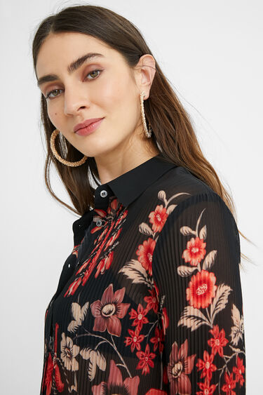 Pleated floral shirt | Desigual