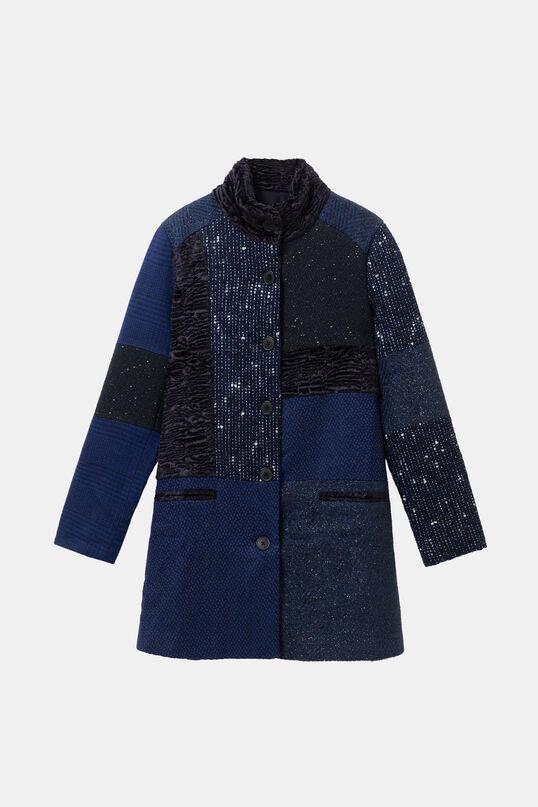Cloth patch coat | Desigual