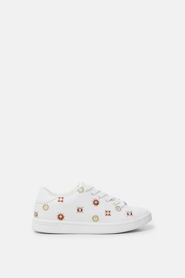 Embroidered mandalas sneakers | Desigual