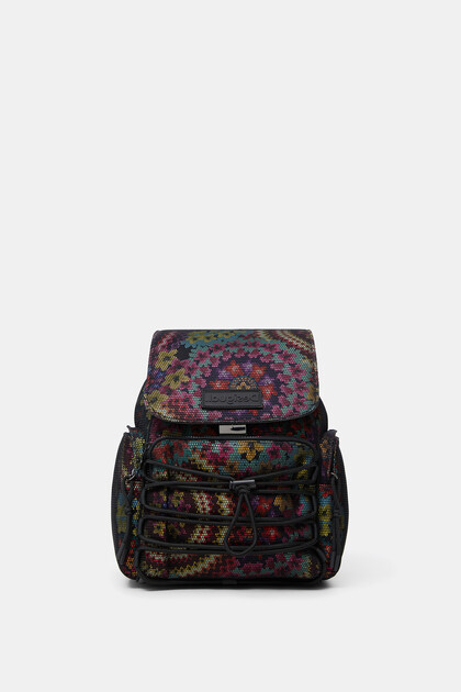 Backpack mesh flowers