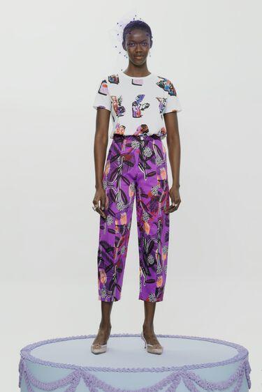Balloon trousers flowers | Desigual