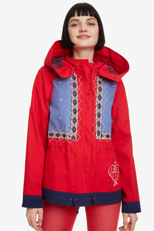 Jacket with removable hood Lena | Desigual