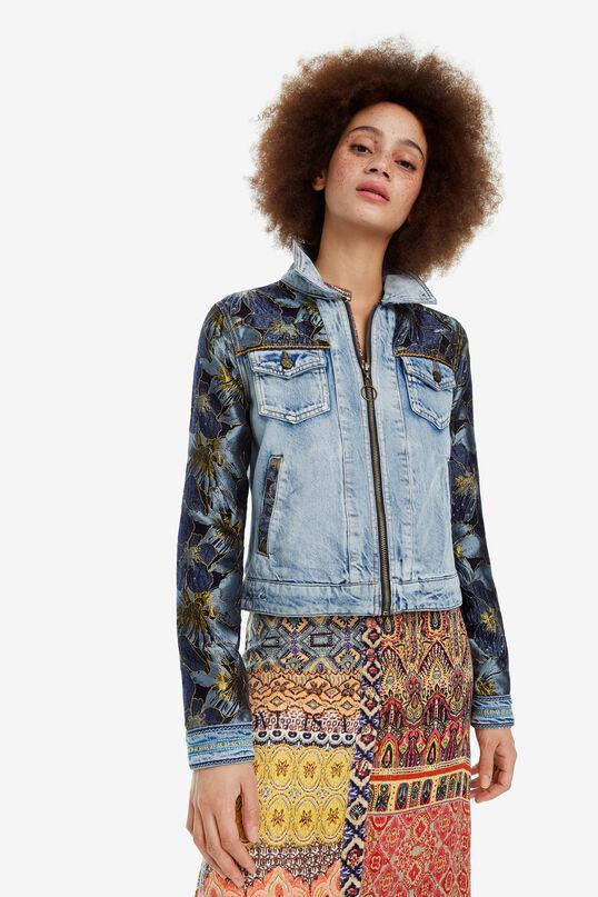 Lurex sleeve denim jacket Sunset | Desigual