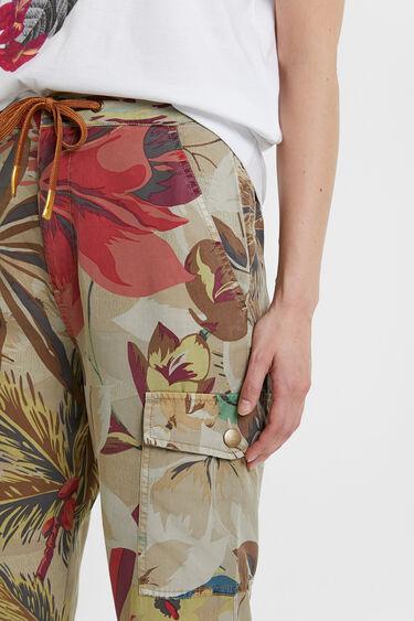 Floral Tencel™ cargo trousers | Desigual