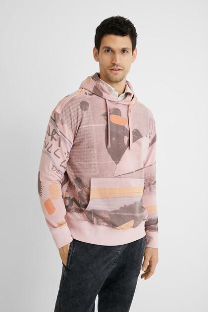 Sweat-shirt coton ouaté surf