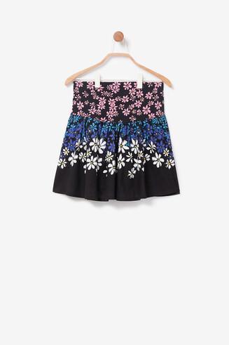 Minirock mit Blumen und Wendepailletten