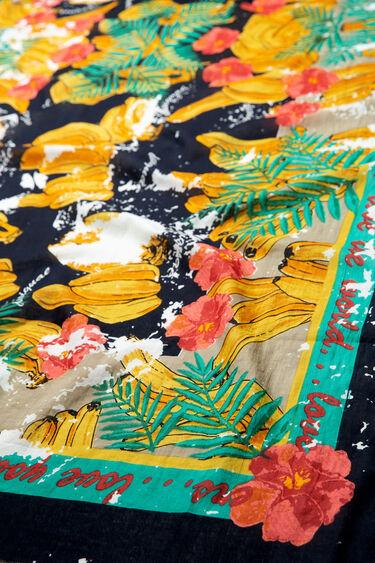 Fulard de flors i plàtans | Desigual