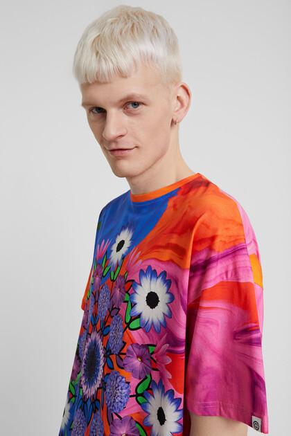 Unisex psychedelic T-shirt with mandala