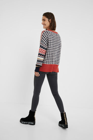 Chunky knit patch jumper | Desigual