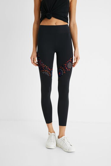Sport leggings printed blocks | Desigual