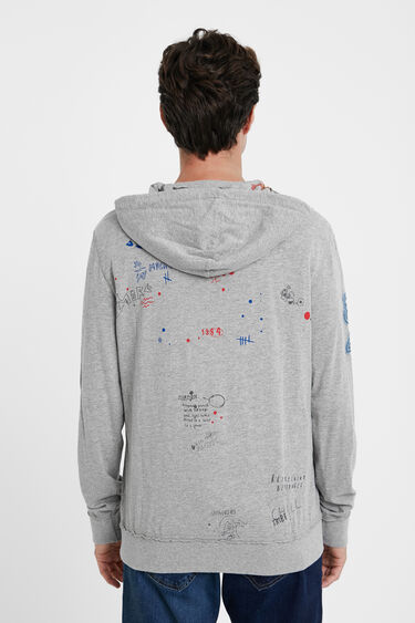 Plush hooded sweatshirt | Desigual