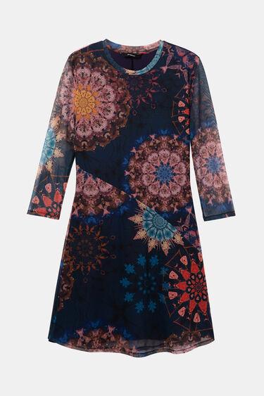 Short viscose dress on the bias | Desigual