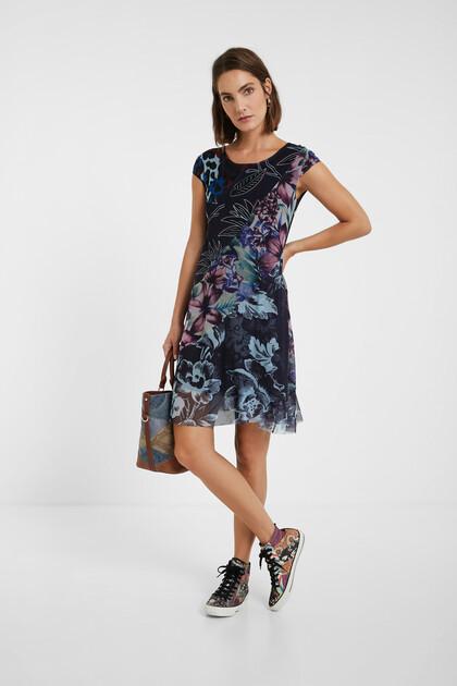 Vestit asimètric floral