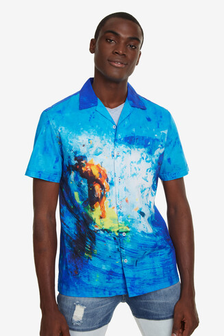 Chemise surfer col ouvert Boon