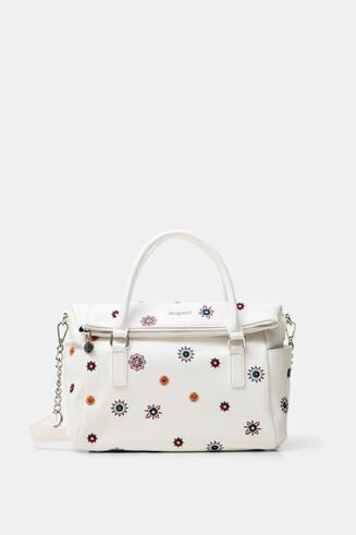 Tasche mit Verschlussklappe und Mandalas