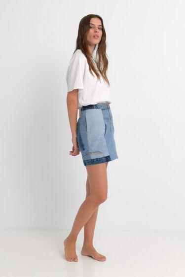 Minijupe jean upcycling | Desigual