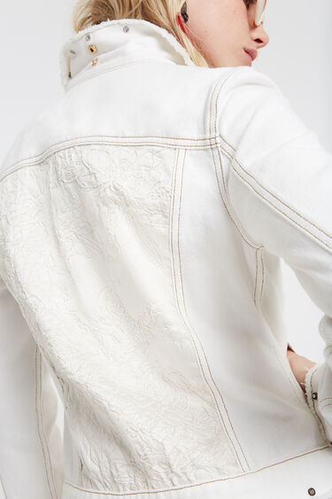 Floral embroidery jean jacket | Desigual