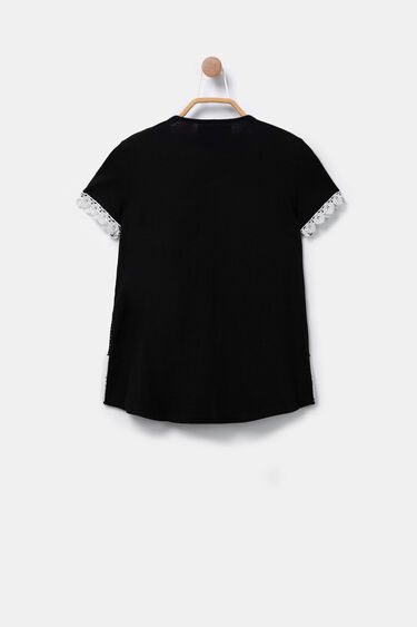 Multilayer sport T-shirt with lace | Desigual