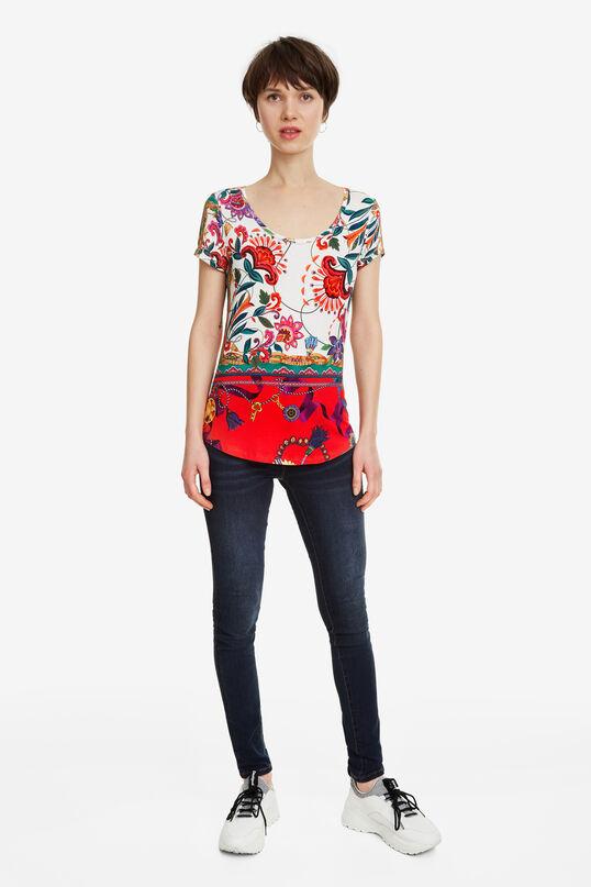 Weißes florales T-Shirt Leonor | Desigual