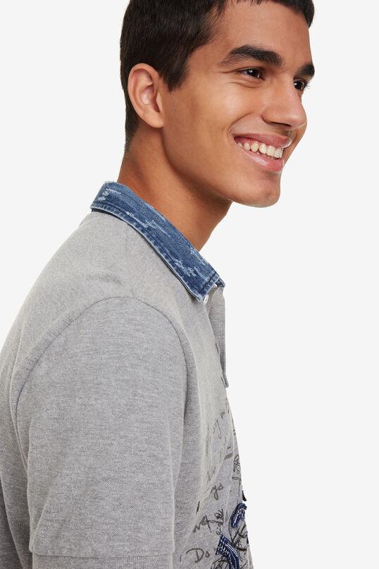 Grey Bolimania polo shirt Alcide | Desigual
