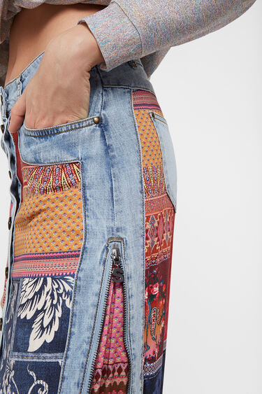 Midi skirt transformable denim | Desigual
