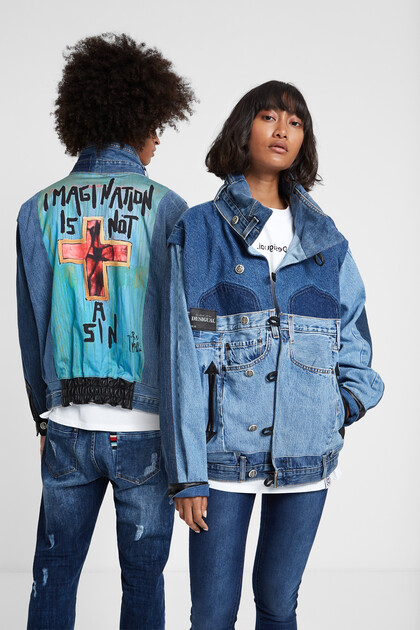"""Iconic jacket """"Imagination is not a sin"""""""