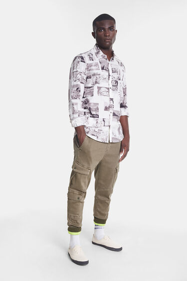 Organic shirt with post cards | Desigual