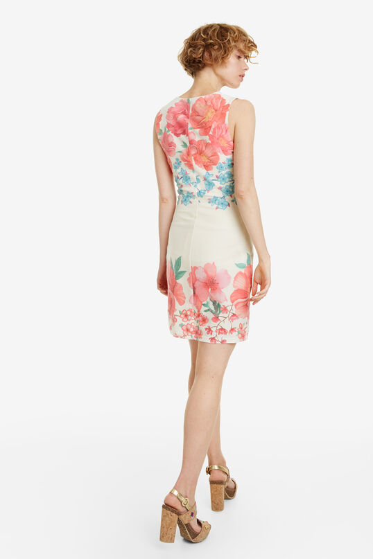 Floral Short Fitted Dress Yaquel   Desigual