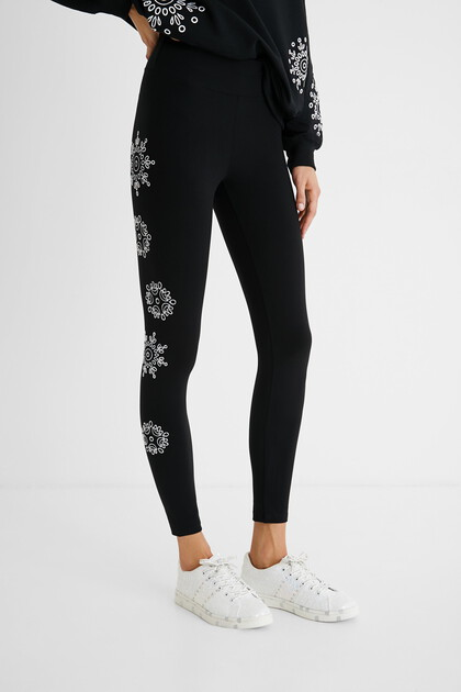 Leggings Swiss embroidery