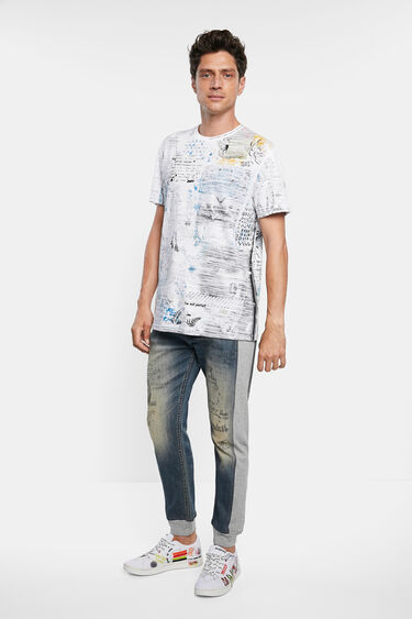 Cotton T-shirt reverse effect | Desigual