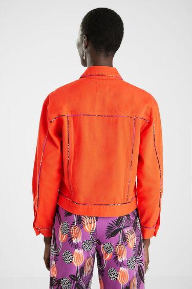 Jacket printed piping | Desigual