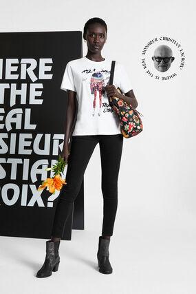T-shirt paillettes 100% coton