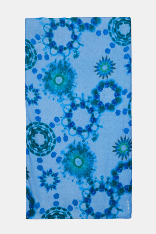 Foulard mandalas aquarelle - BLUE - U