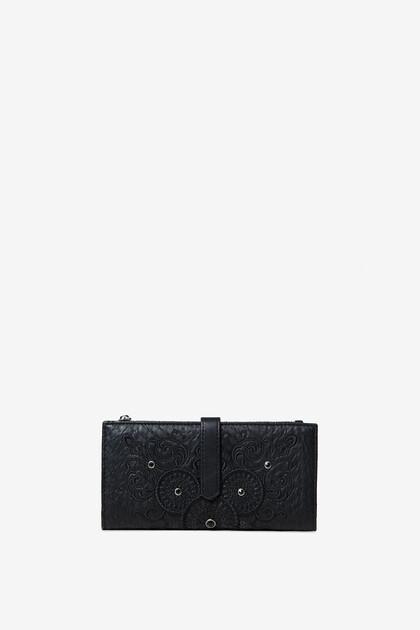 Wallet with galactic mandalas