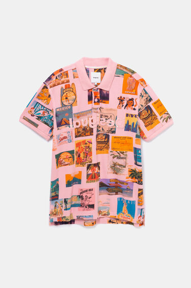 Polo shirt with Vintage post card | Desigual