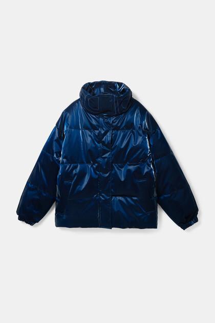 Shiny padded short jacket