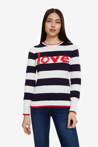 Stripes and Lettering Jumper Love