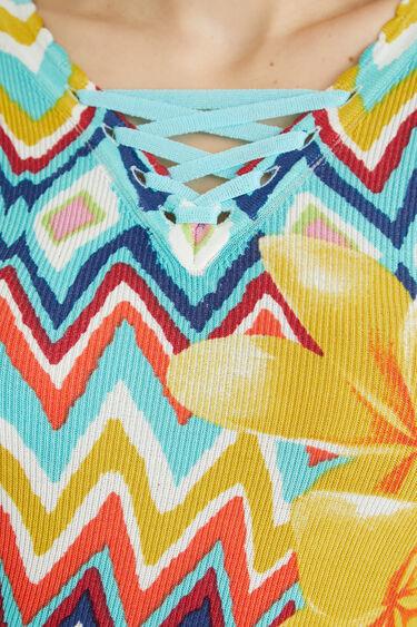 Pullover Zick-Zack Blumen | Desigual