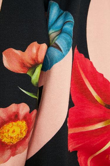 Plush sweatshirt flowers | Desigual