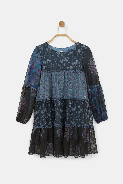 Short dress flowers - BLUE - 9/10