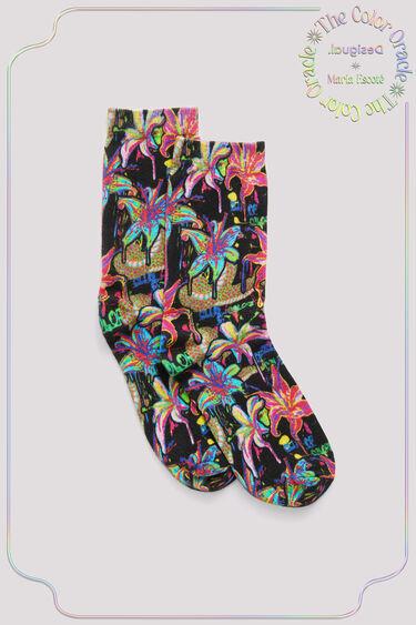 Calcetines de algodón flores | Desigual