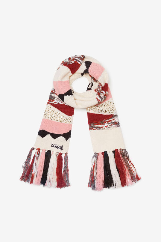 Boho knitted scarf | Desigual